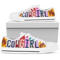 Cowgirl White Low Top Shoes