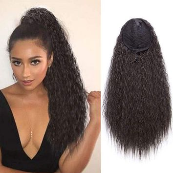 Fluffy Corn Whisker Explosion Wigs Women's Ponytail Wigs