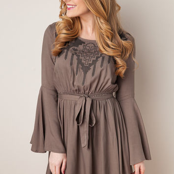 Face Your Fears Olive Dress