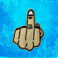 Middle finger Patch Embroidered Patch Iron On Patches sew on patches Punk patches