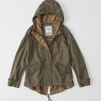 Womens Twill Anorak Jacket | Womens Outerwear & Jackets | Abercrombie.com