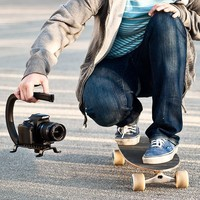 Cam Caddie Scorpion Original  Video Camera Stabilizing Handle with Included Smartphone and GoPro Compatible Mounts - Black (0CC-0100-00)