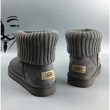 Tagre UGG leather boots boots in tube Boots Grey