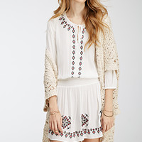 Ornate-Embroidered Peasant Dress