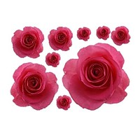 3D Pretty Rose Wall Stickers For Wall Decor