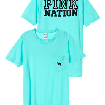 Nation Campus Short Sleeve Tee - PINK - Victoria's Secret