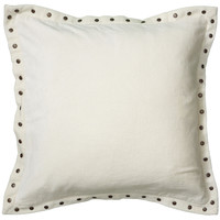 "Solid Velvet with Self Flange White Pillow Cover (18"" x 18"")"