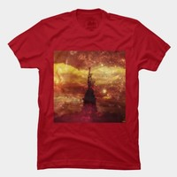 Lady Liberty Red And Yellow Stars T Shirt By Stine1online Design By Humans