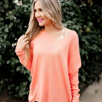 Another Day Sweater (Coral)
