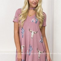 Blushing Cactus Pocket Dress