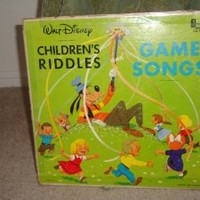 Walt Disney: Children's Riddles and Game Songs (LP Record)