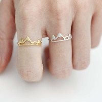 Cute Mountain Ring, Snow Mountain Ring in 3 colors, R1039K
