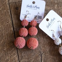 Belmont Earring, Coral