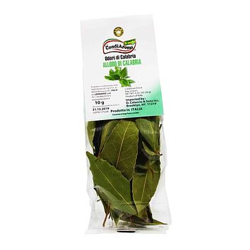 Calabrian Dried Bay Leaves by CondiAroma, 0.3 oz.