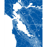 San Francisco Bay Area Map Print