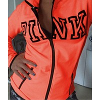 Victoria's Secret Pink Fashion Zipper Hooded