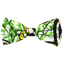 Tok Tok Designs Pre-Tied Bow Tie for Men & Teenagers (B426, African Wax Fabric)