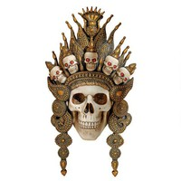 """""""Balinese God of the After Life"""" Sculptural Skull Wall Mask - CL6817 - Design Toscano"""