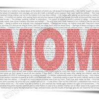 Mom Phrases Typography Art Print for Mothers Day - 8x10 or 16x20