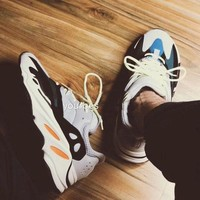 Adidas Yeezy 700 Boost Sneakers Running Sports Shoes White/blue