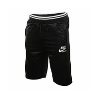 Nike Men's NSW Sportswear Archive Black White Basketball Shorts