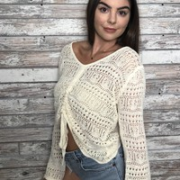 Bounce Back Top- Cream