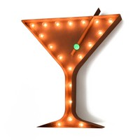 Martini Vintage Marquee Lights Sign (Rustic)