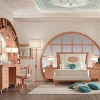 CLASSIC STYLE FITTED BEDROOM SET WITH BRIDGE WARDROBE 244 | BEDROOM SET | CAROTI