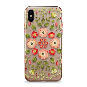 Roses Mandala - iPhone Clear Case