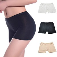 Cotton Boyshorts Panties for Lady Women Safety Shorts Spandex Elastic Low Waist Safety Boyshort Underwear