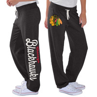 Women's Chicago Blackhawks G-III 4Her by Carl Banks Black Scrimmage Sweatpants