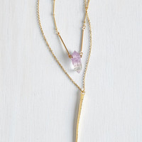 Boho Ode to Geode Necklace by ModCloth