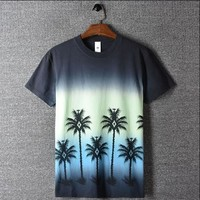 Punk Hipster T-shirt New 2018 Men marcelon burlon Coconut Tie-dye T Shirts T-Shirt Hip Hop  Parkour Street Cotton T-Shirts Tee Top #G35 AT_47_3