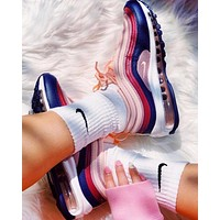 NIKE AIR MAX 97 CRIMSON  Fashion New Leisure Running Shoes Women