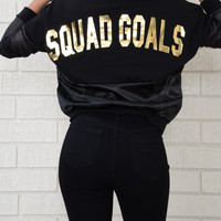 Squad Goals Jersey - Black