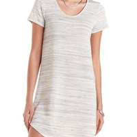 Marled French Terry Sweatshirt Dress by Charlotte Russe