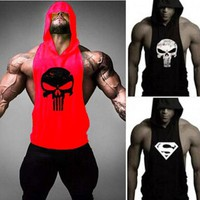 Gym Clothes For Men Tank Tops Skull Golds Gyms building Stringer Fitness Shirt