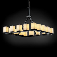 Justice Design Group POR861515SAWTMB Limoges Montana 16-Light Matte Black Ring Chandelier