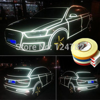 Car decoration 500cm*2cm Motorcycle Reflective Tape Stickers Car Styling