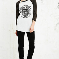 Obey Beat on the Brat Raglan Top in Black and White - Urban Outfitters