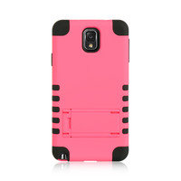 DW Premium Hybrid Armor Stand Case for Galaxy Note 3 - Hot Pink/Black