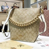 COACH Fashion Retro Women Shopping Bucket Bag Shoulder Bag Crossbody Satchel