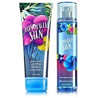 Bath & Body Works Signature Collection HONOLULU SUN Gift Set Ultra Shea Body Cream & Fine Fragrance Mist