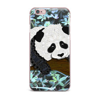 "Art Love Passion ""Panda"" Black White iPhone Case"