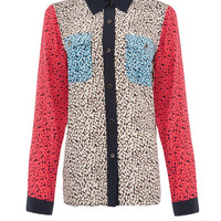 Marc by Marc Jacobs Multi Contrast Floral Print Silk Shirt | Women's Shirts by Marc by Marc Jacobs | Liberty.co.uk