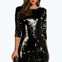 Boutique Skyler All Over Sequin Bodycon Dress
