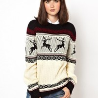 Pop Boutique Reindeer Knitted Sweater