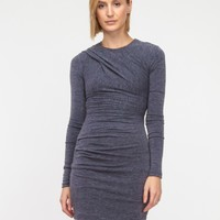 T by Alexander Wang / Brushed Wool Sweatshirt Dress
