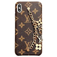 LV new retro classic print anti-fall phone case
