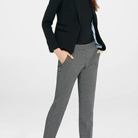 Crosshatch Print Columnist Ankle Pant from EXPRESS